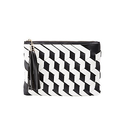 Faux Leather Woven Crossbody