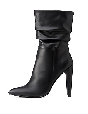 Pointed Toe Ruched Boots
