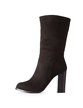 Mid Calf Ankle Boots