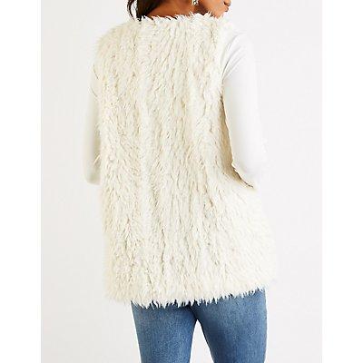 Shaggy Faux Fur Longline Vest