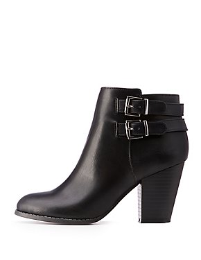 Buckle Detailed Ankle Booties