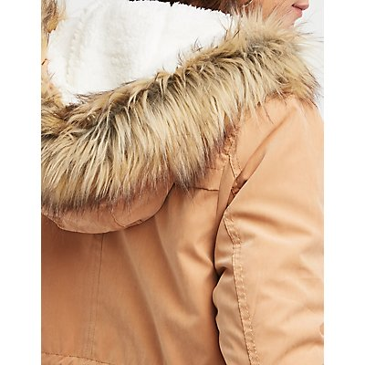 Sherpa Hooded Anorak Jacket