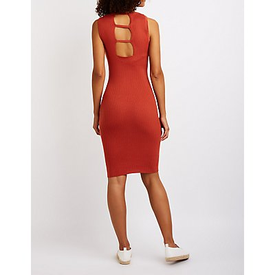 Ribbed Bodycon Sweater Dress