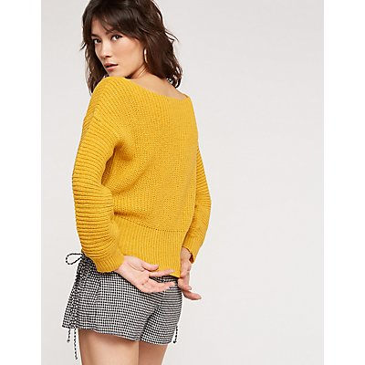 Corset Cropped Sweater