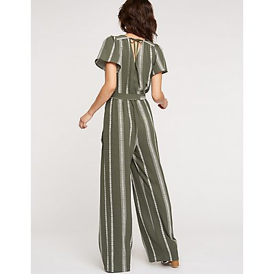 Striped Wide Leg Jumpsuit