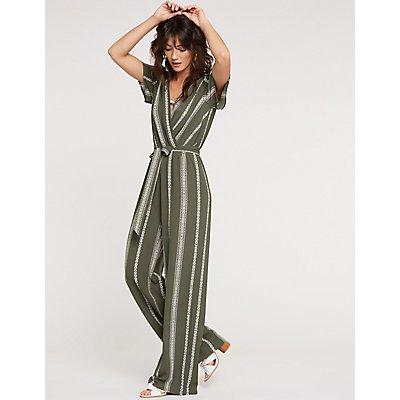 Striped Wide Leg Jumpsuit