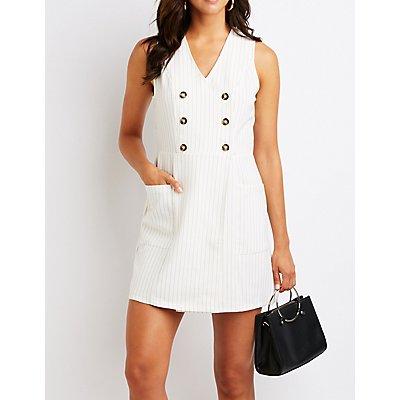 Striped Button Up Dress