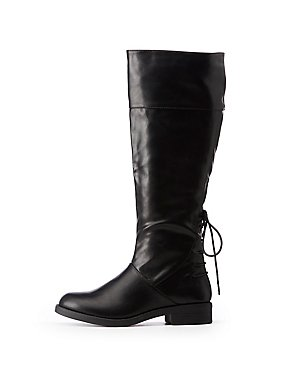 Lace Up Riding Boots