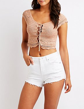 Macrame Off The Shoulder Top