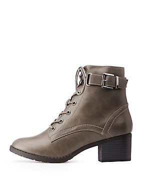 Ankle Buckle Combat Boots