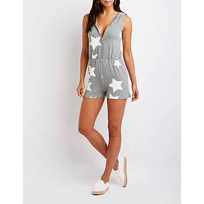 Hooded Star Romper