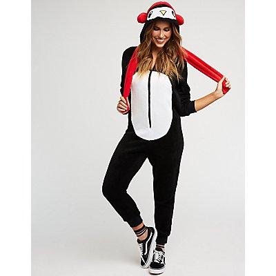 Penguin Zip Up Onesie