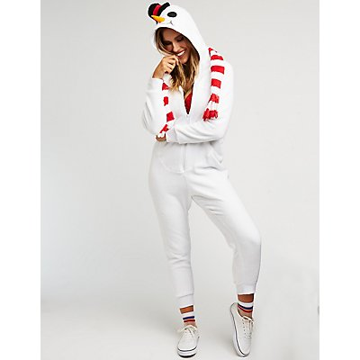 Snowman Zip Up Onesie