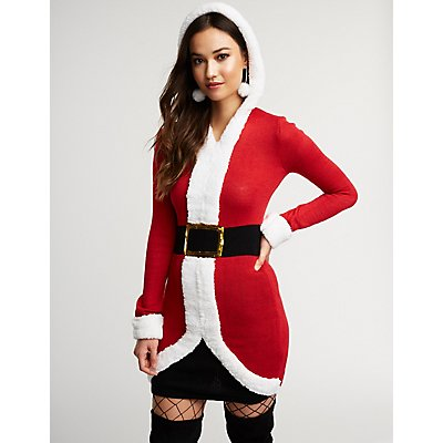 Hooded Santa Bodycon Dress