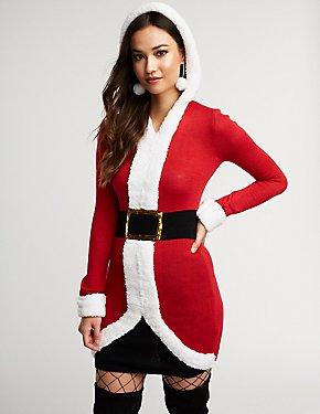 Hooded Santa Bodycon Dress