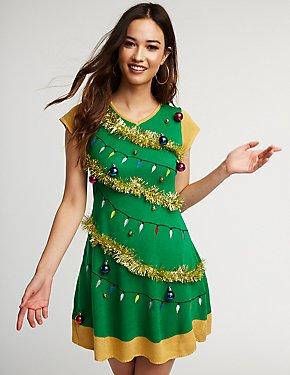 Christmas Tree Skater Dress