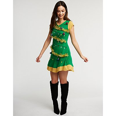 Christmas Tree Skater Dress