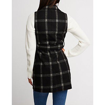 Windowpane Wool Vest
