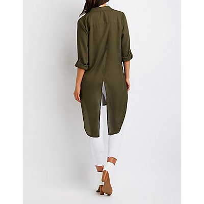 Button Up Longline Tunic