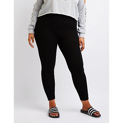 Plus Size High Rise Leggings