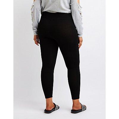 Plus Size High Rise Leggings