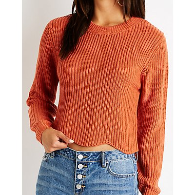 Scallop Pullover Sweater