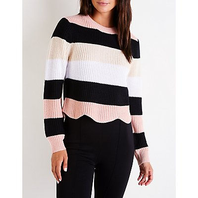 Scallop Pullover Sweater