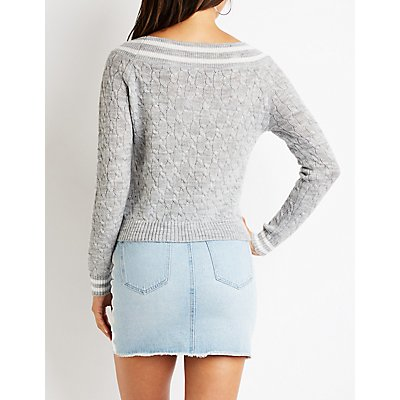 Cable Knit Tennis Sweater