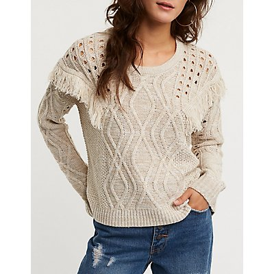 Fringe Pullover Sweater