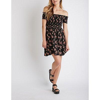 Smocked Skater Dress