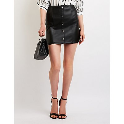 Button Up A Line Skirt