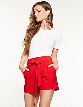 Tie Front Shorts