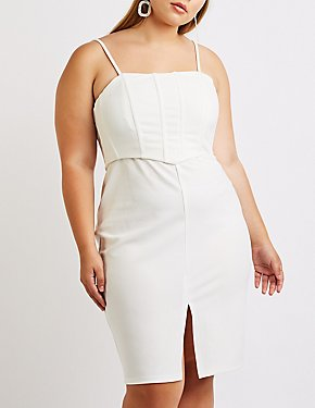 Plus Size Bustier Bodycon Dress
