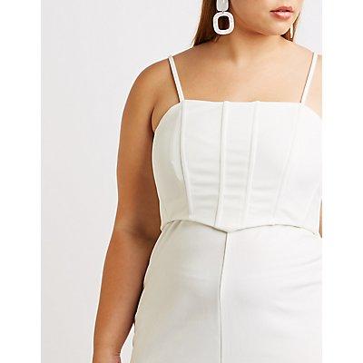 Plus Size Bustier Bodycon Dress