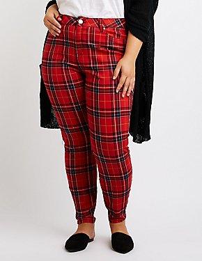 Plus Size Refuge Plaid Skinny Pants
