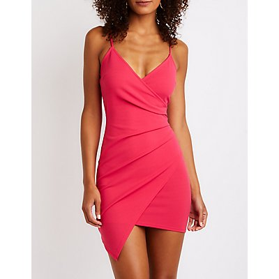 Ruched Wrap Dress