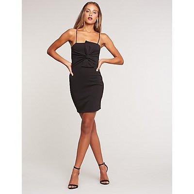 Twisted Mini Bodycon Dress