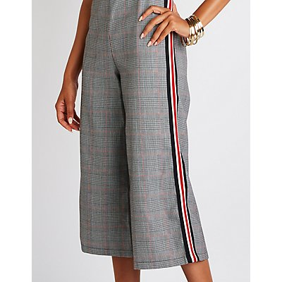 Striped Houndstooth Jumpsuit