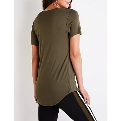 Scoop Neck Boyfriend Tee