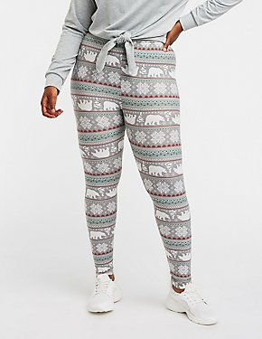 Plus Size Polo Bear Printed Leggings