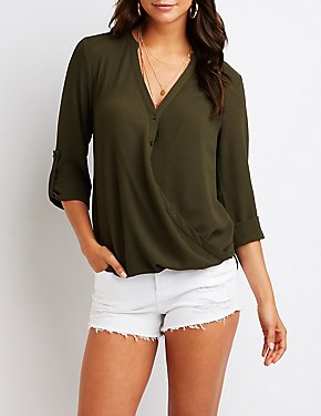 Wrap Button Up Top