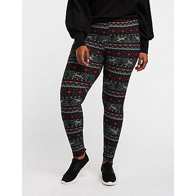 Plus Size Holiday Leggings