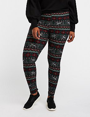 Plus Size Holiday Leggings