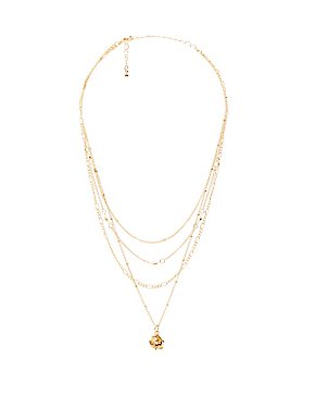 Rose Multi-Chain Choker Necklace
