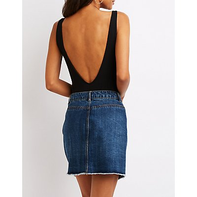 Graphic Open Back Bodysuit