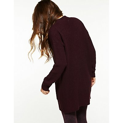 Longline Button Up Cardigan