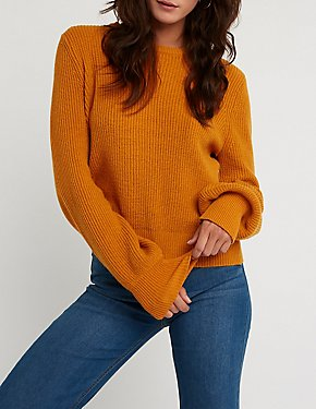 Tie Back Pullover Sweater