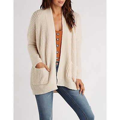 Textured Knit Oversize Cardigan