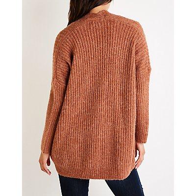 Textured Knit Oversize Cardigan