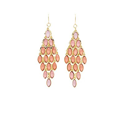 Stone Chandelier Earrings | Tuggl
